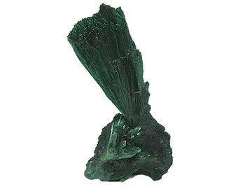 Malachite Green Fibrous Crystal Plume Natural Copper African Geology Specimen gemstone rock and mineral collection, Wear it or Display it