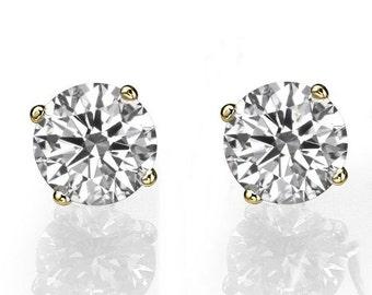 1 Carat Diamond Stud Earrings, Diamond Studs, 14K Gold Earring Studs, 1 CT Diamond Earrings, Classic Diamond Studs, Diamond Stud Earrings