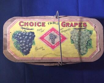 Vintage Grape Crate