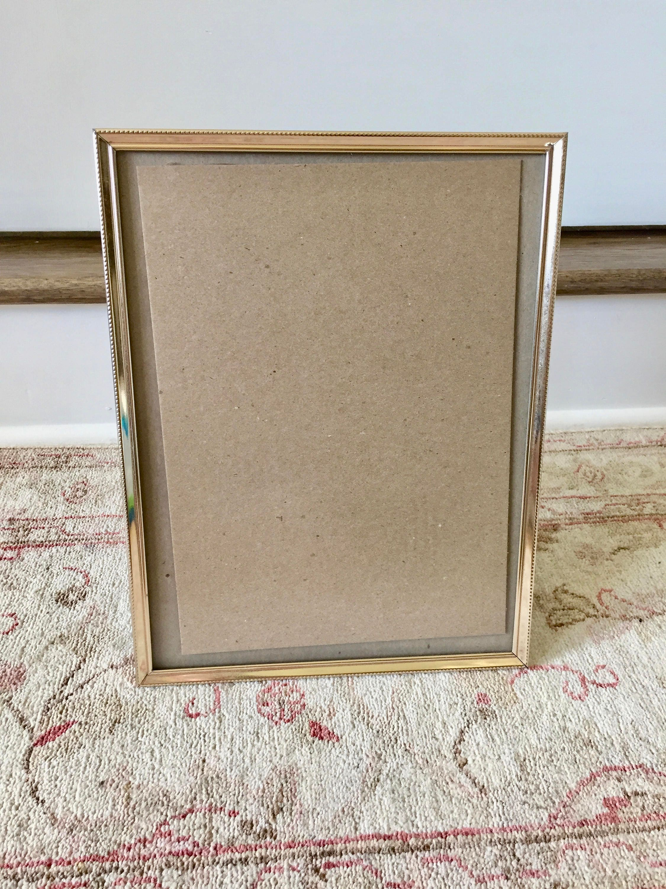 Gold Frame Brass Picture Frame 10x13 Frame Wedding Frame Old Frames ...
