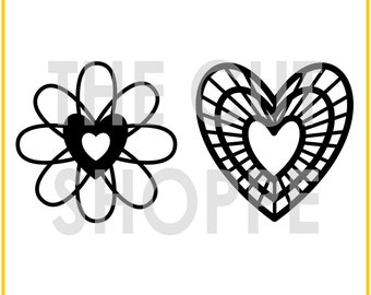 The Happy Hearts cut file includes two heart designs, that can be used on your scrapbooking and papercrafting projects.