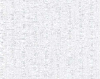 White Ribbed Texture Knit Fabric, Fabric By The Yard