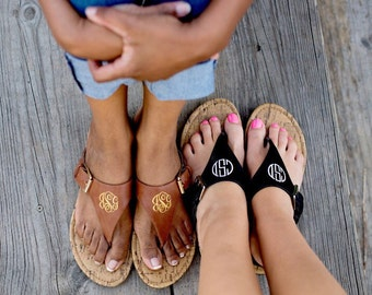 Monogrammed Sandals- Woman sizes