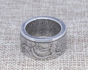 Silver Eagle Coin Ring - Any Size