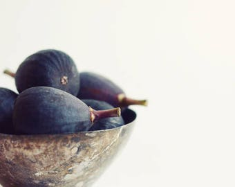 "Figs Still Life Photography, Minimal Kitchen Wall Art, Food Photography ""A Few Figs"""
