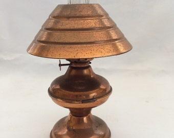 Vintage Copper Miniature Oil Lamp