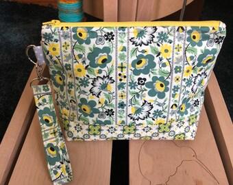 Knitting Bag, Project Bag, Zippered Crochet Bag, Zipper Project Bag, Sock Knitting Bag, Sock Project Bag