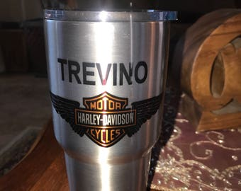 Custom printed 30 oz tumblers, personalized tumbler, stainless steel tumbler, personalized water bottle