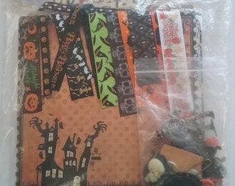 Kit paperbag album theme Halloween, 20 x 20 cm