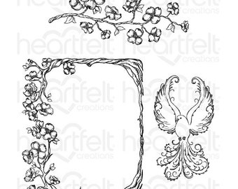 "Heartfelt Creations ""Flowering Dogwood Branches"" Cling Stamp Set HCPC-3774"