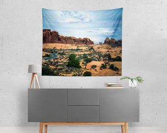 Landscape Wall Tapestry, Southwest Wall Art, Utah Decor, Desert Tapestry, Dorm Room Tapestry, Scenic View Tapestry, Adventure Tapestry