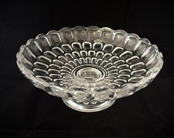 Thumbprint crystal dish