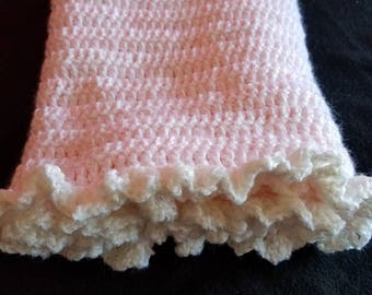 New born or preemie size baby girl blanket