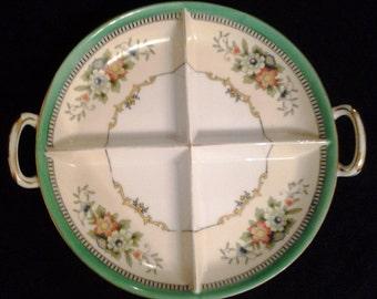 Noritake Japan Roseara Pattern four part Relish Dish