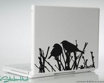 Birds Sitting on Sticks Vinyl Laptop Graphics Decals Stickers L04