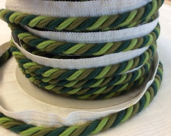 CORD trim With Lip Olive kiwi and forest green