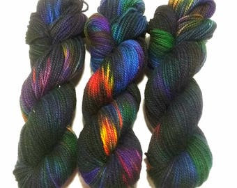 Hand Dyed Yarn: Bird of Paradise - Hinterland Base {100% Wool, non superwash, 210yd, worsted} Suitable for knitting and crochet