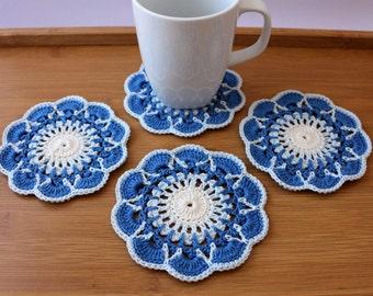 Crochet Coaster PATTERN, Crochet Home Decor Pattern, Coasters DIY, Crochet Gifts, Instant Download Digital Pattern PDF #194, Lyubava Crochet