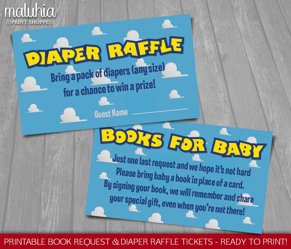 Toy Story Baby Shower Invitation Inserts INSTANT DOWNLOAD