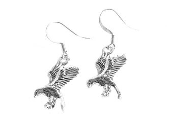 Silver-plated Eagle Earrings