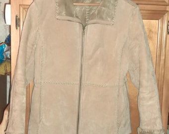 J Percy Marvin Richards SUEDE LEATHER Winter COAT Jacket Size L Western Style
