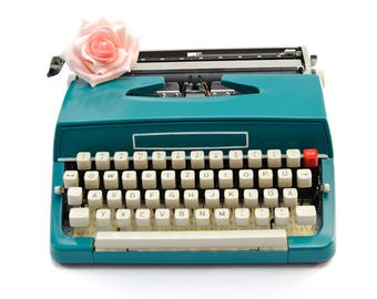Vintage typewriter retro working typewriter gift for her retro home decor 1950s gift girlfriend
