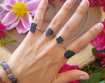 Blue goldstone ring, goldstone, sparkle  ring, adjustable rings