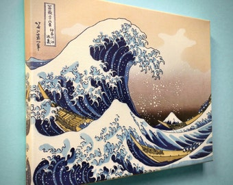 "Hokusai, ""The Great Wave at Kanagawa"" - 18"" x 14"" Canvas Gallery Wrap Print"