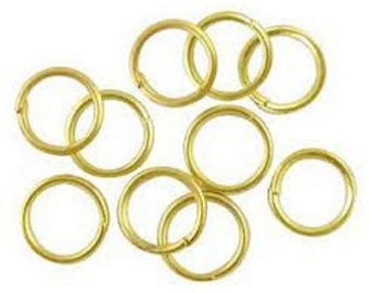 lot 100 rings yellow gold finish jewelry ring 0.5 mm new