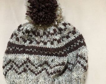 Hank knit adult hat