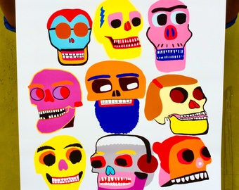 Fine Art, Art Print, Animals, skulls, Colorful, Quirky, Poster, Skulls of Interesting People-Fine Art Print