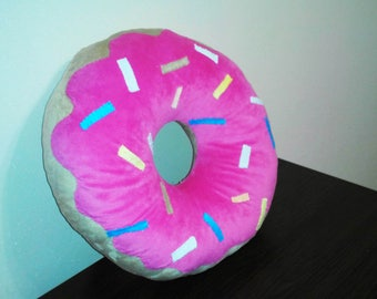 Donut Pillow, Donut Cushion,  donut party, donut decor, Personalize your donut!!