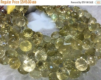 50% Mega Sale 11-12mm Gold Lemon Quartz Onion Cut Briolettes Gemstone Beads