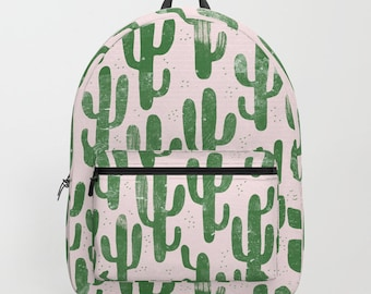 Cactus Backpack , Cactus bag , Green , Cactus Plant bag , Cactus , Leaves bag , Green bag , beach bag , backpack , school bag , Green Cactus