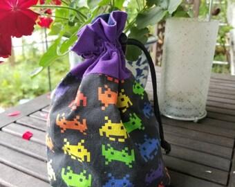 Atari Space Invaders drawstring bag