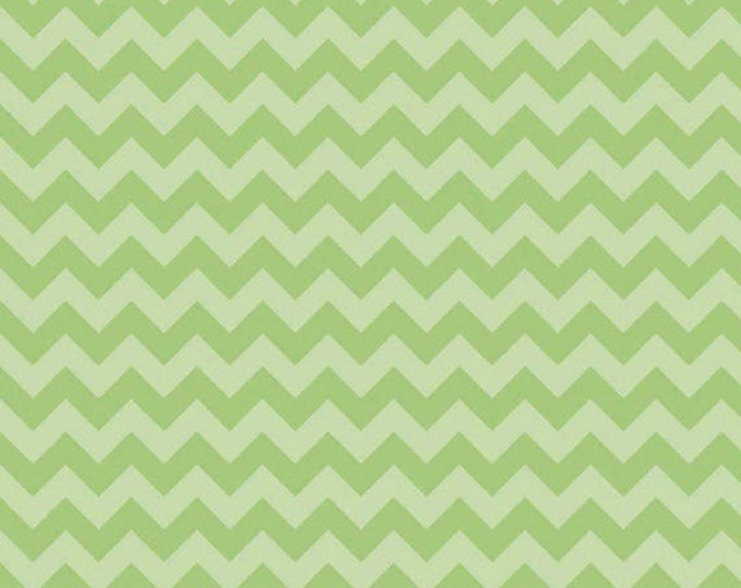 One Yard Small Chevron - Tone on Tone in Green - Cotton Quilt Fabric - C400-31 - RBD Designers for Riley Blake Designs (W3329)