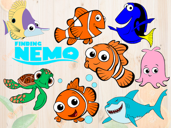 Finding Nemo Svg Cut Files Dxf Eps Png Clipart