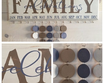 Family Celebrations Board . Family Birthday Sign . Special Dates . Family Celebrations . Family Birthday Wall Hanging