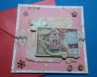 3D 858 hand made greeting card