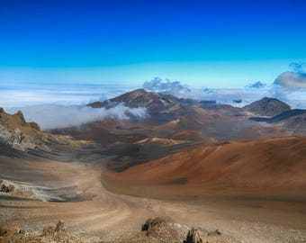 "Travel Photography, ""Atop Haleakala"", Hawaii Photo, Maui Photo, MetalPrint, Customizable Upon Reqeust"