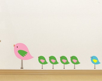 Birds Wall Decals // Bird Decals // Bird Decor // Playroom Art // Nursery Decals // Bedroom Decals