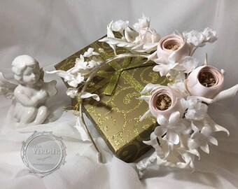 Silk Flowers, Vintage Bridal Headband,  Flower Headband, Bridal Headpiece, Flower Crown, Communion Headpiece