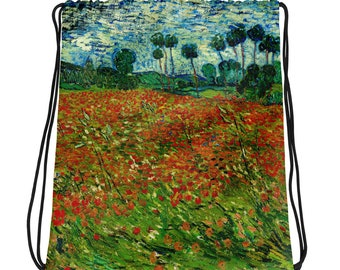 Drawstring bag ~ Poppy Field (Field With Poppies) ~ VAN GOGH