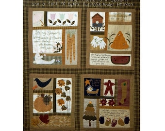 Seasons Under Heaven Quilt Pattern Including all 4 Individual Season Patterns