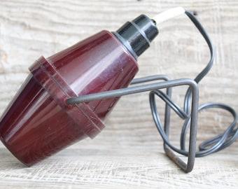 vintage Photography equipment / Vintage Soviet Darkroom Red filter lamp / photo laboratory accessories