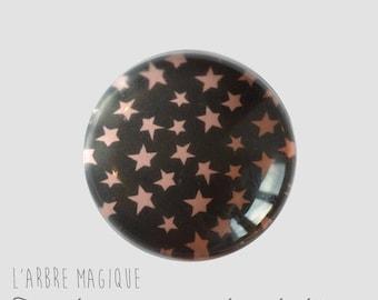2 cabochons to glue glass 14 mm M361 stars