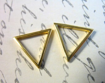 TRIANGLE Pendant Charm Link, Sterling Silver or Gold Vermeil / 1-10 pcs, 10 mm, 15mm, or 16x10 mm, geometric to.10 to.15 to.16 art solo gdc