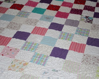The Modern Baby Clothes Quilt - DEPOSIT ONLY, Custom Made Memory Quilt, Girl's and Boy's Clothing