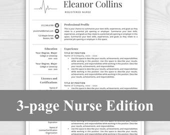Resume resume template instant download by resumetemplatestudio 3 page nurse resume template for word pages nurse cv doctor resume yelopaper Image collections