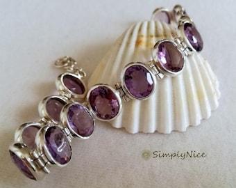 Amethyst Clear Bracelet